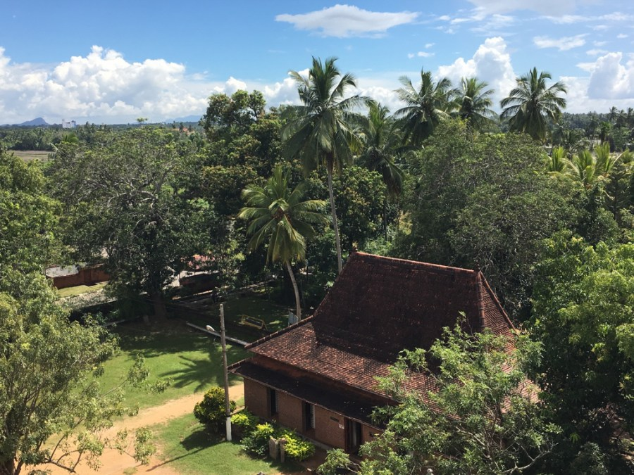 Vue panoramique à Isurumuniya à Anuradhapura au Sri Lanka