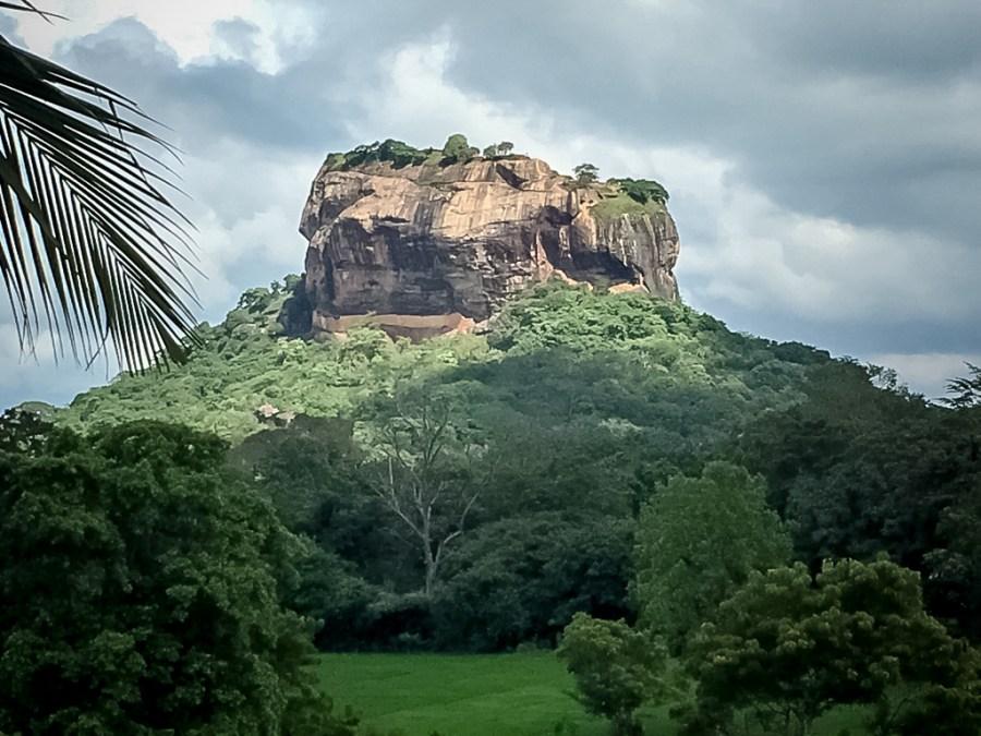 Le rocher du lion au Sri Lanka à Sigiriya