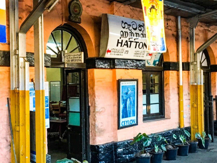 Gare d'Hatton au Sri Lanka