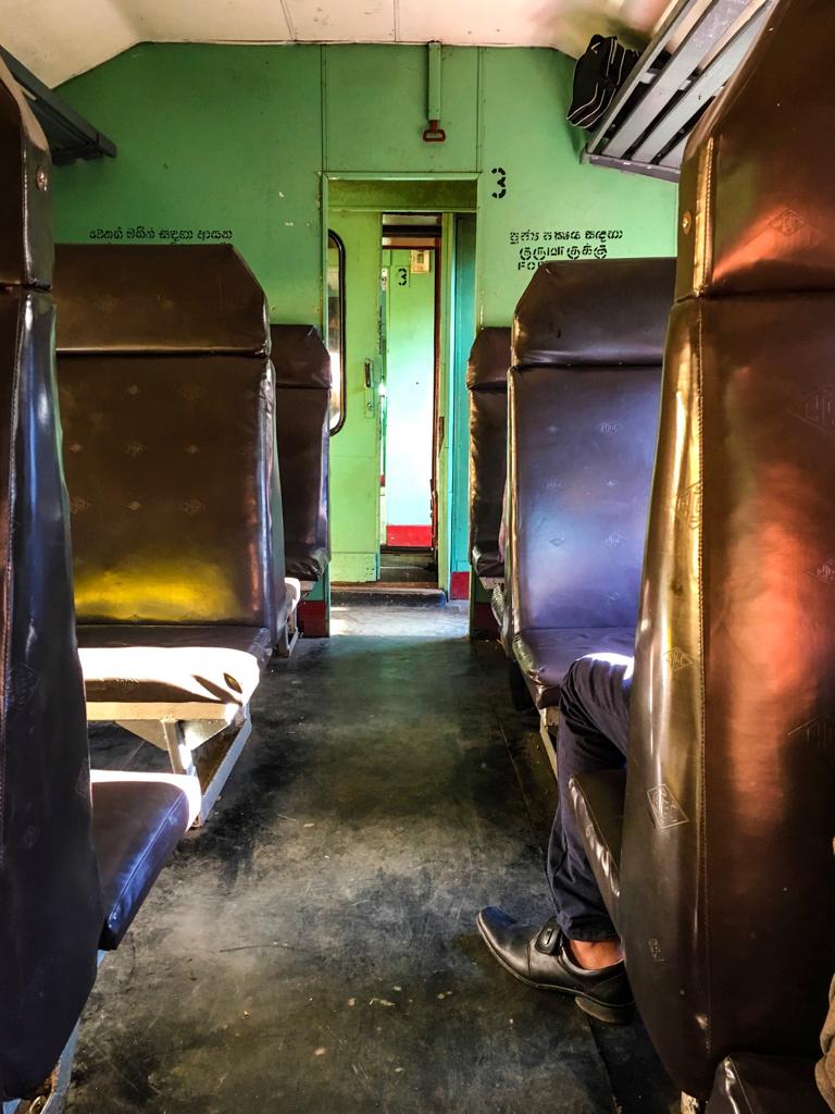 Wagon d'un train au Sri Lanka