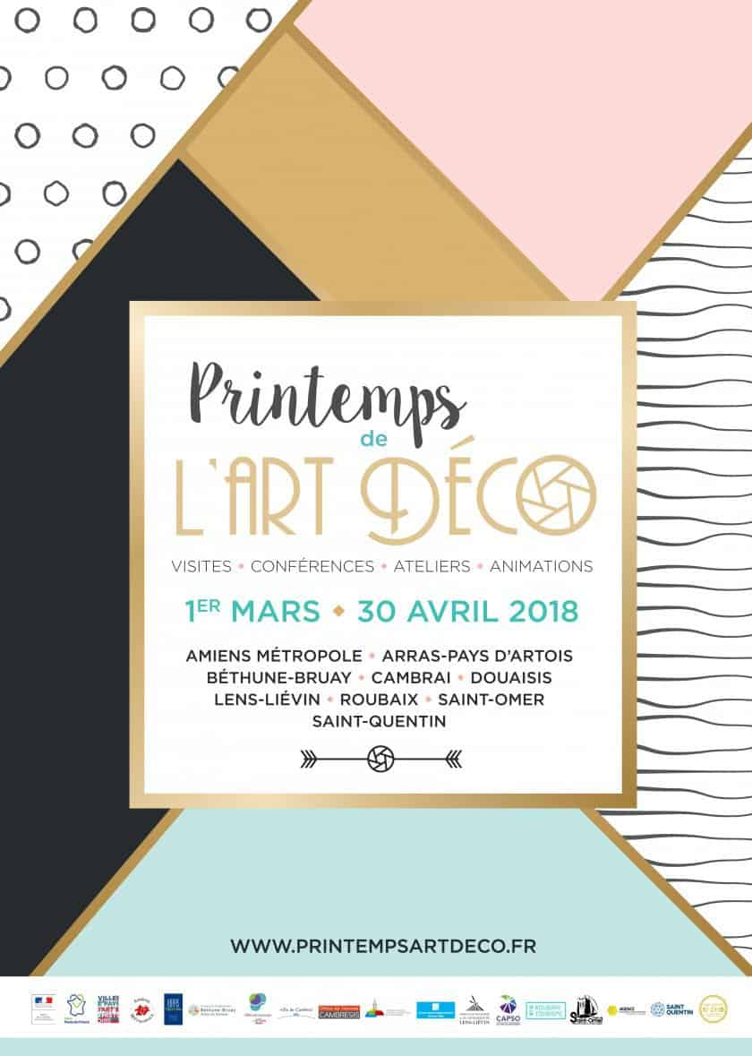 Affiche Printemps Art Déco en Hauts de France