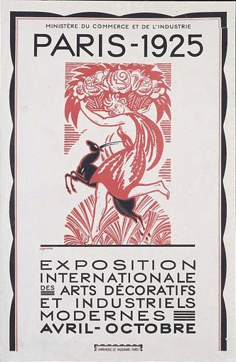 Affiche de l'exposition Art Déco de Paris en 1925
