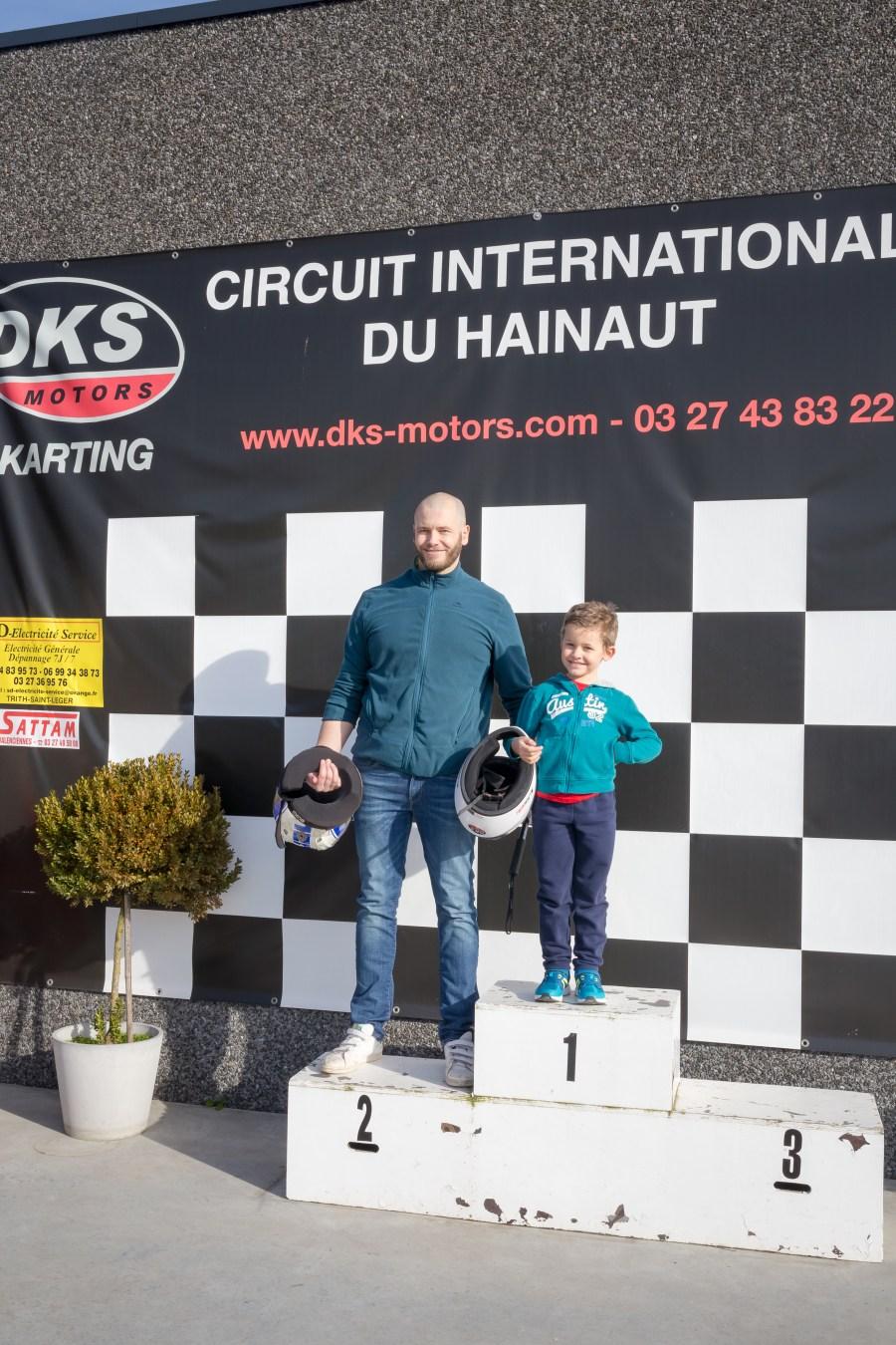 Podium karting à Petite Forêt