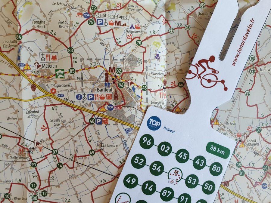 Itinéraire à vélo sur le réseau points noeuds