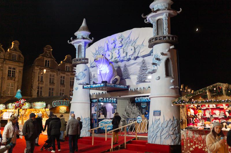 Ice World le palais de glace du marché de Noël d'Arras