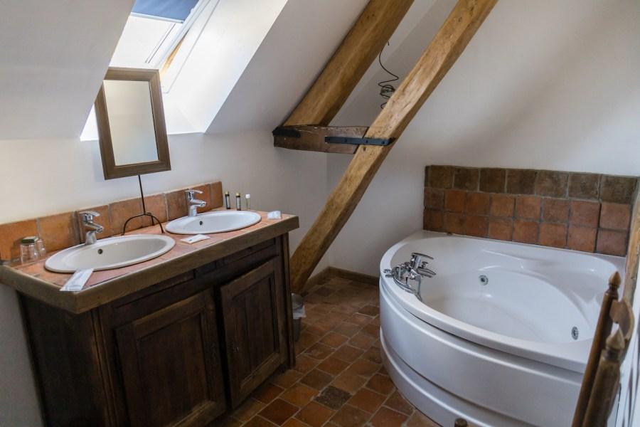Salle de bain à l'aunette cottage