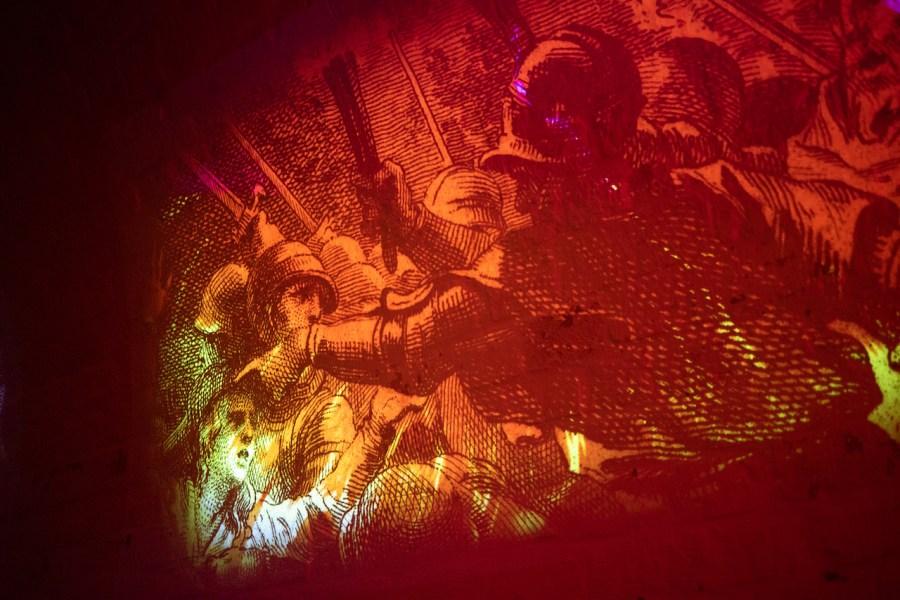 Scénographie dans les souterrains de Laon