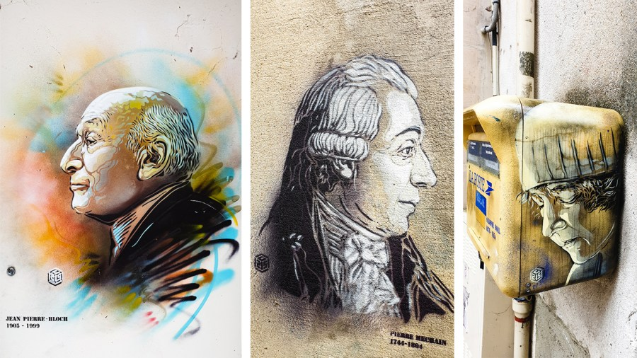 Street art de l'artiste C215 à Laon