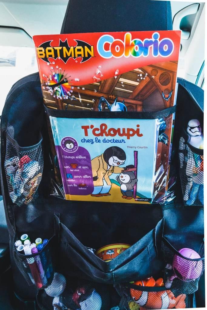 Pochette de rangement voiture pour enfant