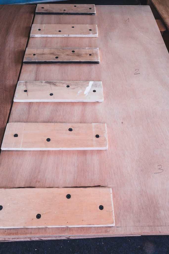 Plaque de bois avec les guides