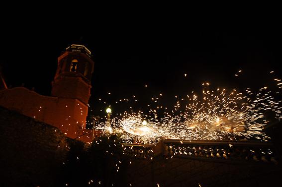 Castells de focs de la Festa Major de Sitges