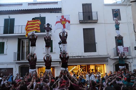 Castellers a la Festa Major de Sitges