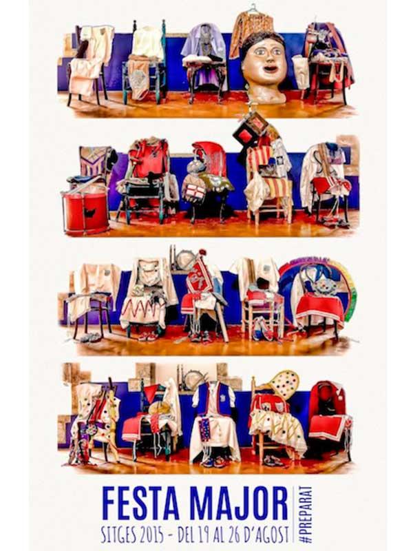 Cartell de Festa Major de Sitges 2015