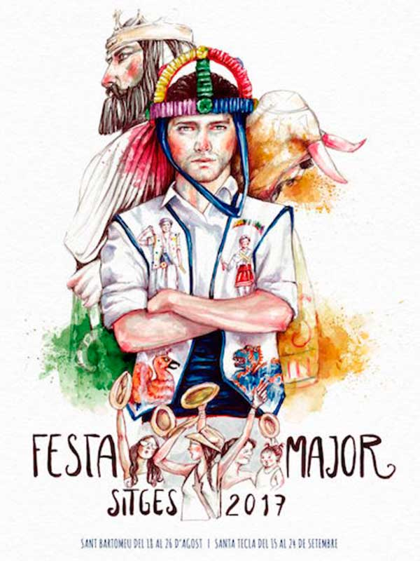 Cartell de Festa Major de Sitges 2017