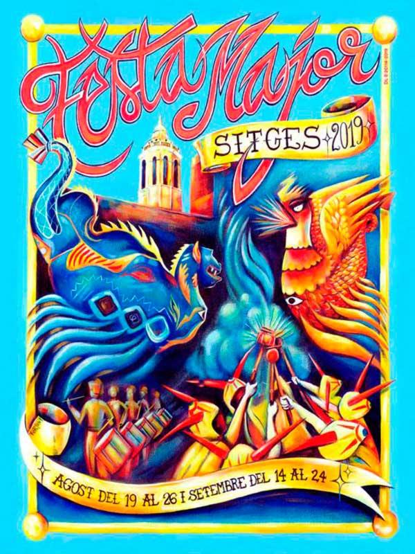 Cartell de Festa Major de Sitges 2019