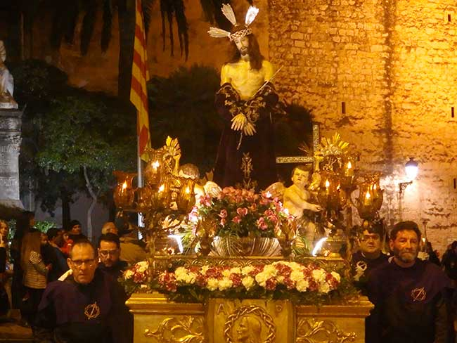 Paso con Cristo de la pasión de la procesión del silencio, en Semana Santa.