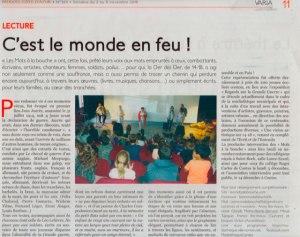 Article presse Le patriote Nice C'est le monde en feu
