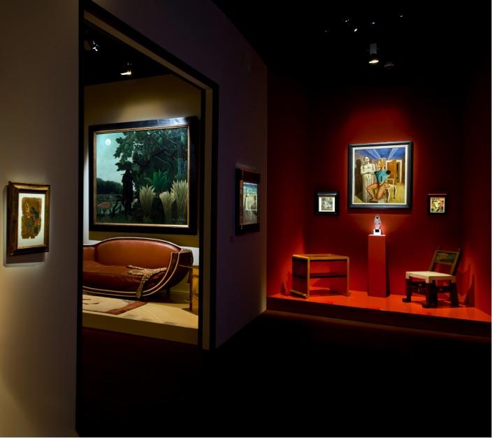 Scénographie de l'exposition Jacques Doucet Yves Saint Laurent vivre pour l'art
