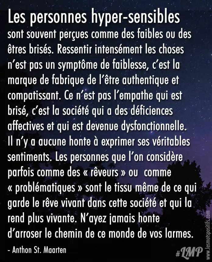 Les Hypersensibles Et L Amour : hypersensibles, amour, Personnes, Hyper-sensibles, Citations, Pensées, Positives, Positifs.com