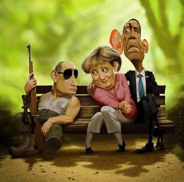 Merkel - poutine - obama