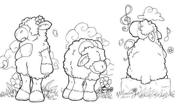 moutons-lineart