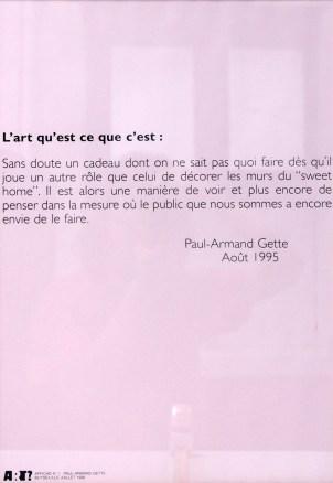 GETTE Paul-Armand Sans titre, 1996Sérigraphie par Alain Buyseaffiche n°153x38 cm
