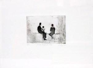 HINNEBURG Florence Album de famille 1964, 2002 gravure (5/25) 30x39 cm