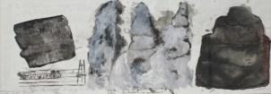 MENGUY Bertrand De... à..., 2002 peinture sur papier 35x80 cm