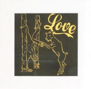 LUCCI Dominique Love, 2010 linogravure 33x33 cm