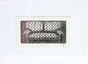 OKAMOTO Hiroko Chair n°118 gravure (4/5) 33x43 cm