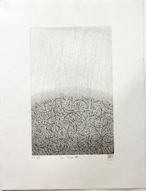 OKAMOTO Hiroko La pluie VII gravure (3/5) 50x38 cm