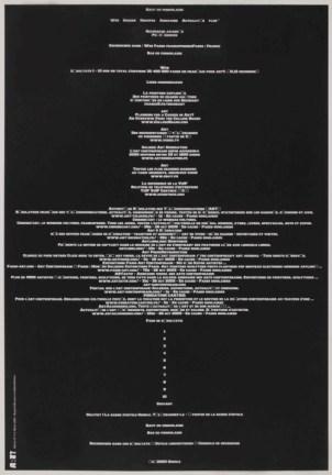 BLOCK Sans titre, 2005 Sérigraphie par Alain Buyse affiche n°113 53x38 cm