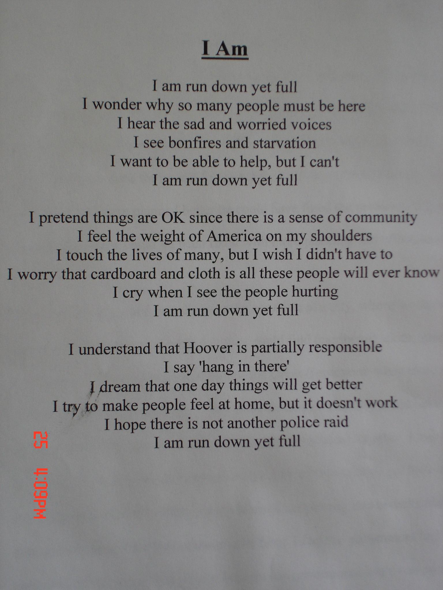 I Am Metaphor Poem Examples Gallery Resume