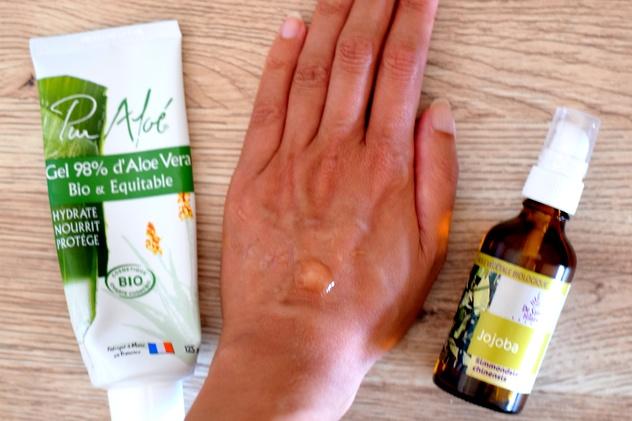 serum aloe huile odyssees - Une routine de soins visage bio, naturelle, pas chère