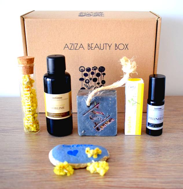 aziza beauty box juin juillet corse - Aziza Beauty Box Juin Juillet 2018