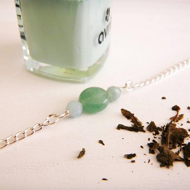 Bracelet Dana Chic Energetic : bijoux de lithothérapie en pierres (Amazonite et Aventurines)