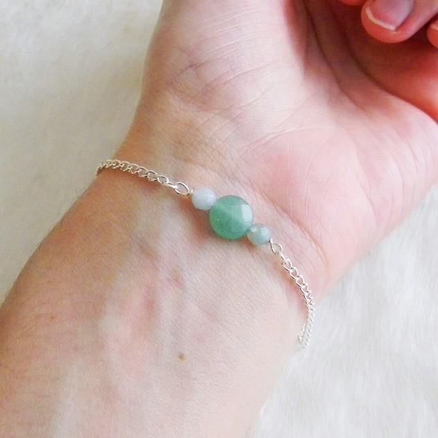 Bracelet Dana Chic Energetic : bijoux de lithothérapie en pierres semi-précieuses