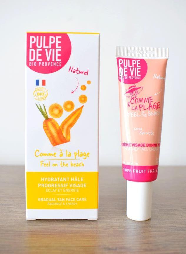 Crème autobronzante visage bio Comme à la plage Pulpe de vie