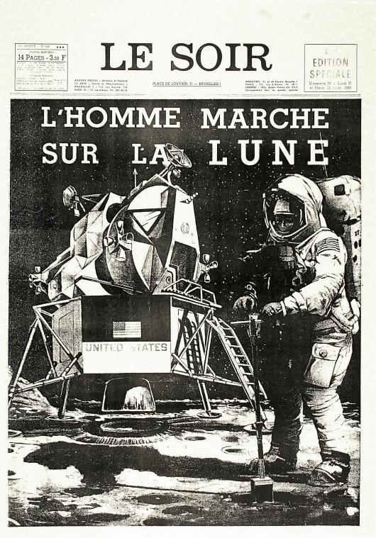 Combien D Astronautes Ont Marché Sur La Lune : combien, astronautes, marché, Grand, Format, Historique, L'Homme, Marché