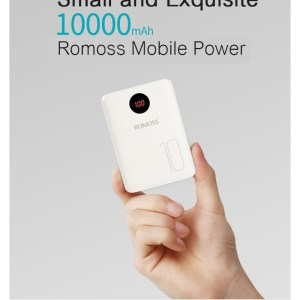 Mini Power bank Romoss 10000 mAh blanc