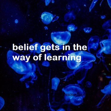 belief gets in the way of learning