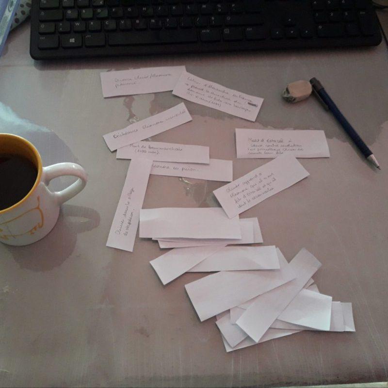 La technique des petits papiers pour écrire un roman