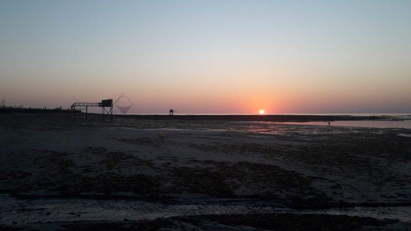 paysage sunset pêcherie