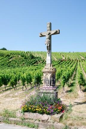 On croise de nombreux calvaires dans les vignes