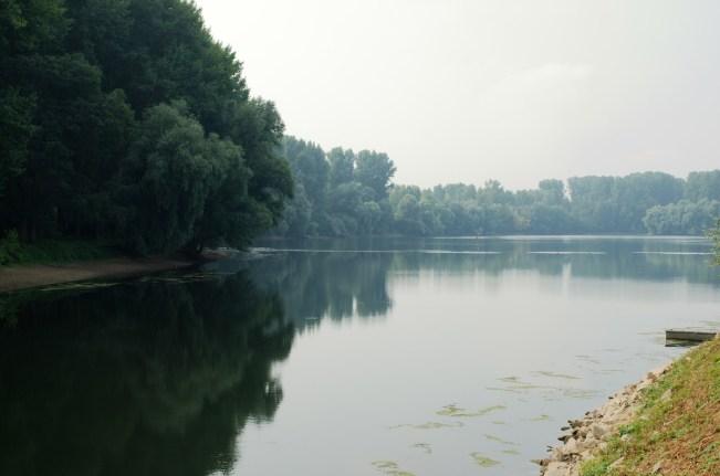 Un des multiples étangs autour du Rhin