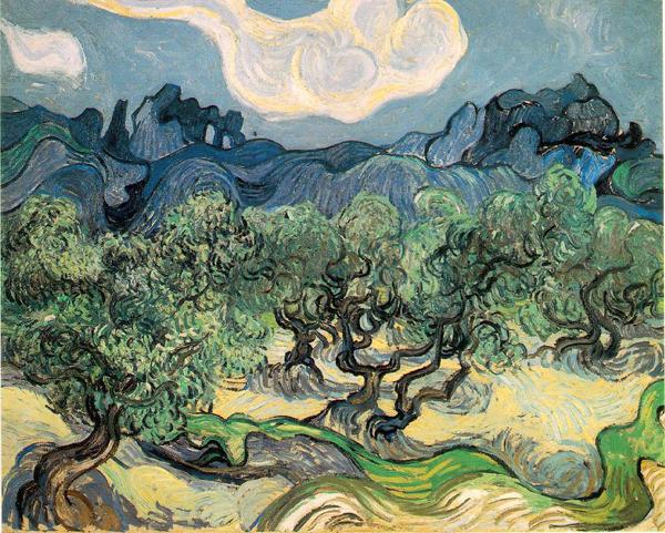 PDT-2018-Van Gogh-Alpilles et oliviers-Les Papotis de Thalie