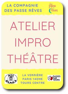 atelier impro theatre paris tours la verrière