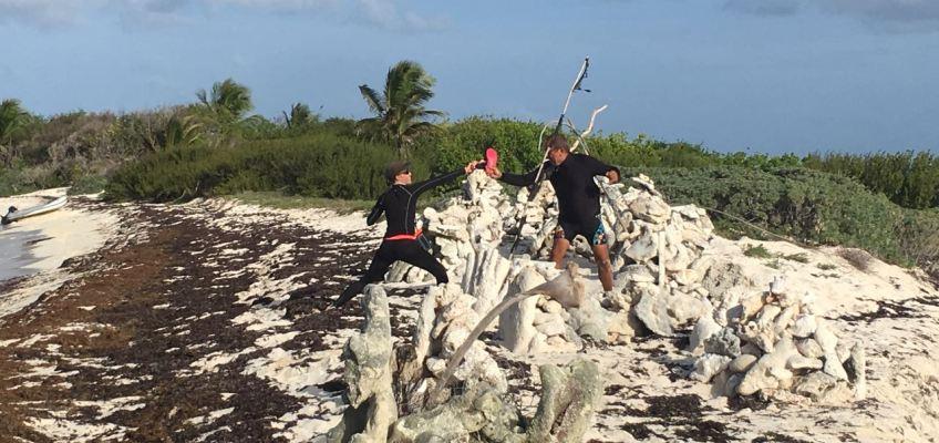 Entassement de blocs de coraux