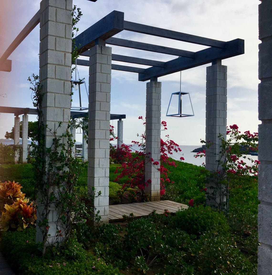 Jardin du bar hôtel