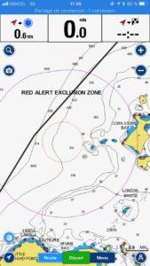 Zone sécurité Kick'-Em-Jenny volcan sous-marin actif